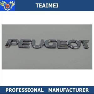 China ABS Plastic Car Letter Emblems 3M Adhesive Auto Body Letter Decoration Emblem Badge wholesale