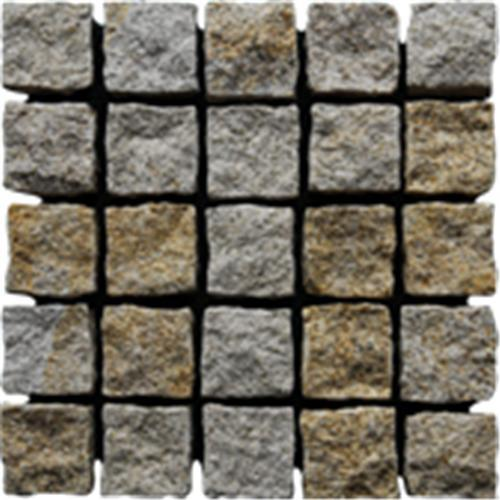 Quality G682 Granite Paving Stone On Mesh for sale