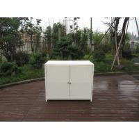China Resin Wicker Storage Box , Aluminum Frame White Rattan Cabinet wholesale