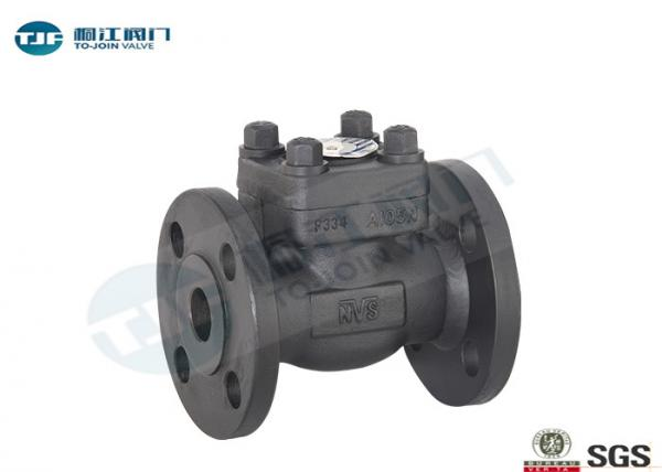 Quality Forged Steel F304 Non Return Stop Valve , ANSI B 16.5 Flanged Lift Check Valve for sale