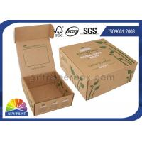 China Printed Brown Corrugated Mailer Box kraft paper gift boxes Beauty Product Packaging wholesale