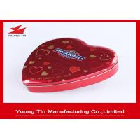 China Chocolate Gifts Packaging Heart Shaped Tin Box , Full Color Printed Heart Shaped Tin Containers on sale