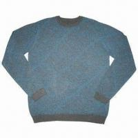 China Men's allover printed crew neck sweater/pullover on sale