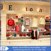 China Factory OEM Project wooden Clothing Stores For Boys,Boys Clothing Stores with custom big logo wholesale