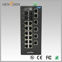 Buy cheap 18 Electric port + 4 Gigabit FX fiber optic 28 Port Switch , Industrial Ethernet Switch from wholesalers