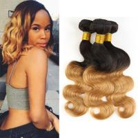 China 1B / 30 Two Tone Ombre Human Hair Extensions Brazilian Loose Wave Hair Weave wholesale