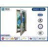 China Sparkly Glass Metal Fire Escape Doors / Single Open Fire Proof Metal Door wholesale