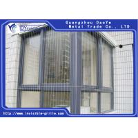 China Single / Double Pad Window Metal Grill , Invisible Security Grills For House Windows on sale