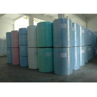 China Woodpulp and PP Spunlace Nonwoven Fabric industrial wiper jumbo roll wholesale