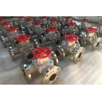 China 3 Way Stainless Steel Diaphragm Valve with RF Flanged Connection wholesale