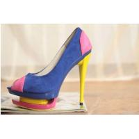 China 2012 High Heel Pu Leather Fish Mouth Pumps Fashion Women Shoes Online/ wholesale