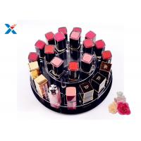 China 2 Tiers Round Acrylic Makeup Organiser 360 Degree Rotating For Displaying Lipsticks on sale