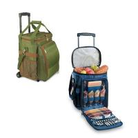 China New Picnic Time - Avalanche - Pine w/Lattice Stripe Picnic Cooler Set cooler bag with drink holder cooler bag with hard wholesale