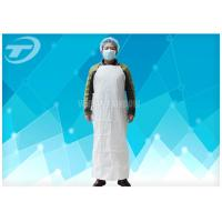 China Plastic Coated Aprons Waterproof  43 Gsm / Disposable White Coats on sale