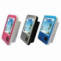 China Multifunctional promotional gift table photo frames with clock, temperature and pen holder wholesale