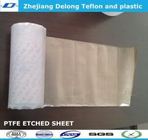 China 0.5mm, 0.8mm, 1mm,1.5mm sodium PTFE skived sheet for mathine parts wholesale