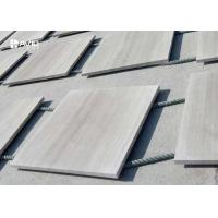 Polished Wood Vein Marble Stone Tile For Interior Wall Cladding Customized Size