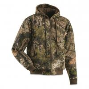 China Ykk Zipper Mens Camo Hunting Jacket , 100% Cotton Shell Camo Insulated Coat on sale