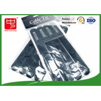 China 4 pcs Printed Hook and Loop Cable Ties white strong hook and loop straps For Supermarket wholesale