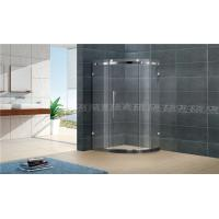 China Customized Offset Quadrant Shower Screens Frameless Sliding With Stainless Steel Accessories wholesale