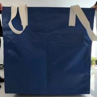 China Square Waterproof Recycled Jumbo Bag Flat Bottom / Side Discharge Design 500kg - 1500kg wholesale