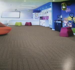 China 50x50cm Office Carpet Flooring , Nylon Carpet Tiles High Low Loop Pile wholesale