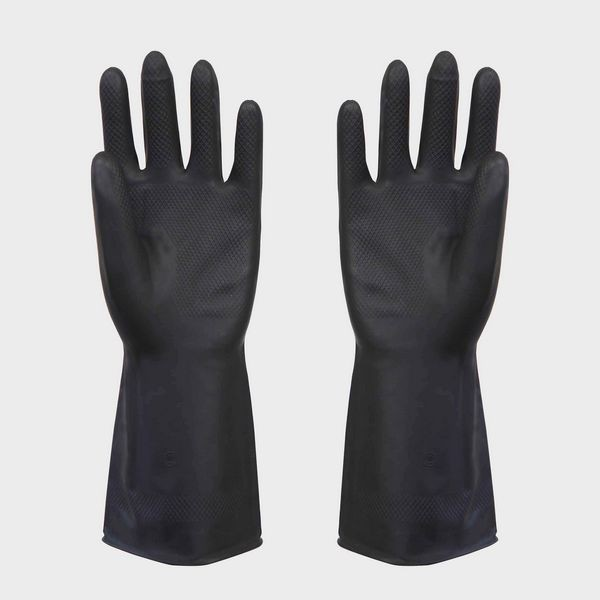 Quality Man Black Latex Work Gloves , diamond grip latex working gloves for sale