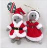 China 8 inch Santa & Mrs Claus Holiday Plush Toys Christmas Mice Mouse Set Figure Ornament wholesale