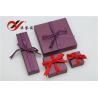 China Caja de regalo púrpura del papel especial con el Bowknot, cajas de regalo de la joyería para los collares wholesale