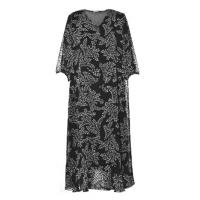 China Fashion Color Printing Long Sleeve Chiffon Long Dresses For Ladies Summer Autumn wholesale