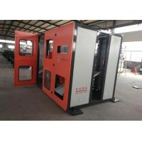 China Screw Heating Extruder Bottle Blow Molding Machine With Hydraulic Driven Linear Guide Double Station wholesale