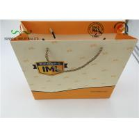 China Eco Friendly Cardboard Shopping Bags With Round String Handles , Printed Your Own Logo wholesale