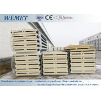 China silver grey PU/PIR fire proof insulated sandwich roof panel for steel structure factory 11.5m length wholesale