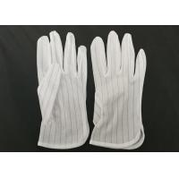 China Polyester Lint Free Electrostatic Discharge Gloves In Electronic Assembly wholesale