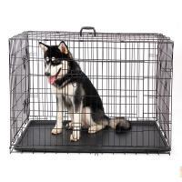 China Heavy Duty Stackable Double Door Dog Cages With Wheels(Whatsapp +86 13331359638) wholesale