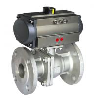 China 304 316 Sanitary Stainless Steel Pneumatic Actuator Ball Valve on sale