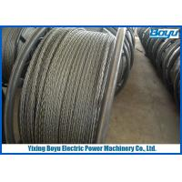 China Load 360kN Overhead Line Stringing Pilot Rope 24mm Anti - twisting Breaking wholesale