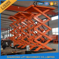 China Material Handling Warehouse Elevator Lift , Hydraulic Upright Scissor Lift Workbench on sale