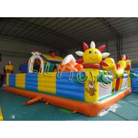 China colorful children Inflatable Fun City playground With blower / repair kits on sale