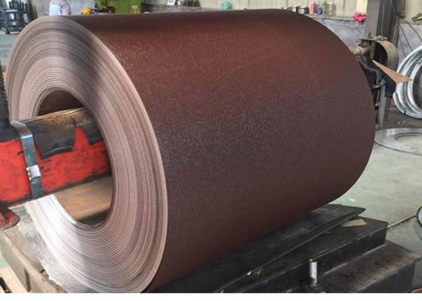 Quality 0.35*1250MM MATT wrinkle RAL 8017 COLOR  PPGI PREPAINTED GALVANIZED STEEL COIL for sale