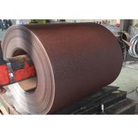 China 0.35*1250MM MATT wrinkle RAL 8017 COLOR  PPGI PREPAINTED GALVANIZED STEEL COIL wholesale