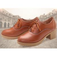 China Leather Thick Comfortable Casual Shoes High Heel With Lace Korean Leisure Comfort Autumn wholesale