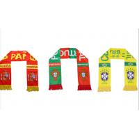 China customized 2018 Russian World Cup scarf souvenir football fans scarf on sale