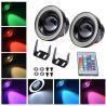China Colorful DRL 89MM 30W Car LED Fog Lights With RGB COB Halo Angel Eye Rings wholesale