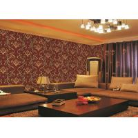 China Brick Red Non-Pasted Vinyl Coated Paper Contemporary Wall Wallpaper For Administration on sale