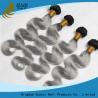 China Prolongements micro gris de cheveux de boucle, armure brésilienne indienne péruvienne de cheveux bouclés wholesale
