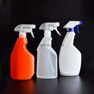 China 500ml large capacity transparent pump spray bottle lotion bottle wholesale