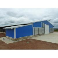 China Pre - Engineered Steel Chicken Houses Gabled Steel Structure With Feed Box wholesale