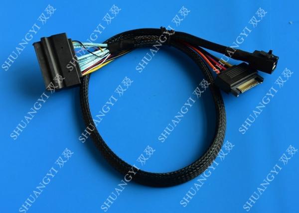 Quality Servidores SFF 8643 de los puestos de trabajo al cable de U.2 SFF 8639 con el conector de poder de 15 Pin SATA for sale