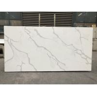 China Solid stone kitchen worktops Polished White Slab 2cm Thickness Quartz Slab wholesale